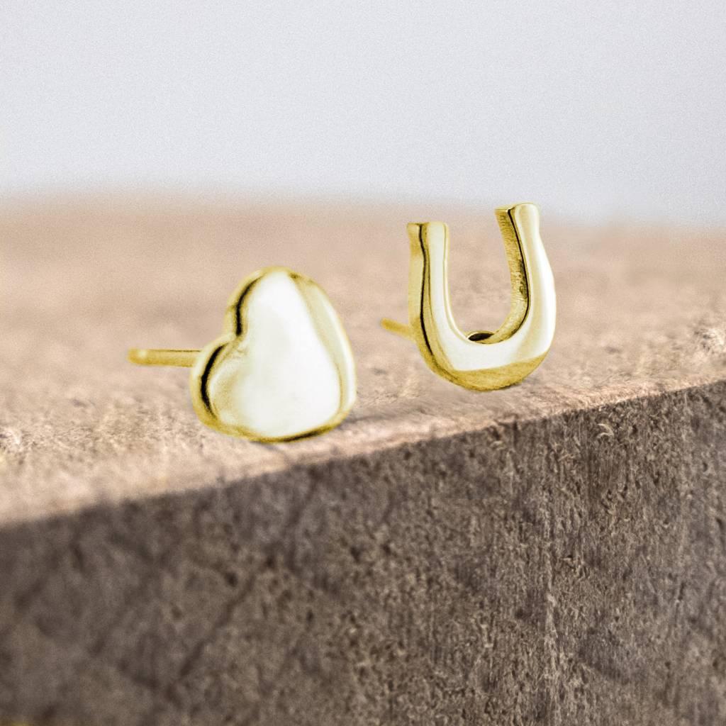 oorstekers hoefijzer & hartje