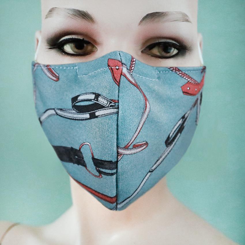 Facemask Bridle Blue