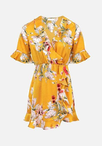 Ocher Blossom Dress