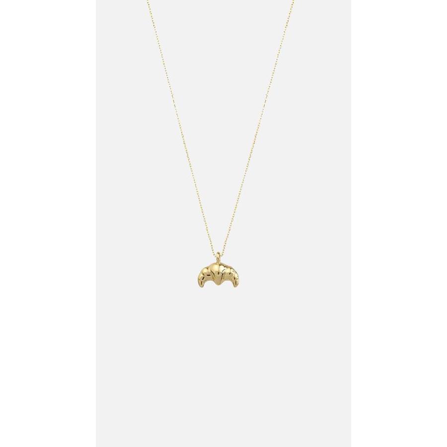 Petit Croissant Necklace Gold