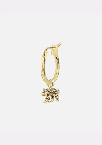 Leopard Charm Earring Gold