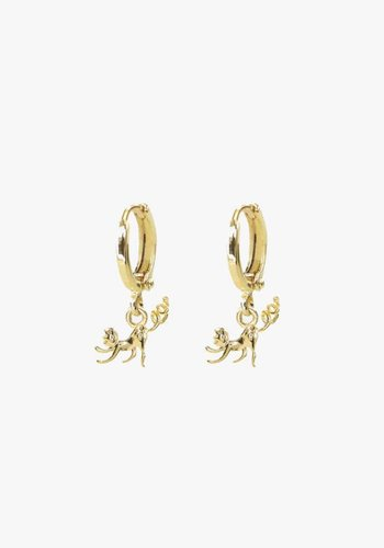 MJ Monkey Earrings Gold