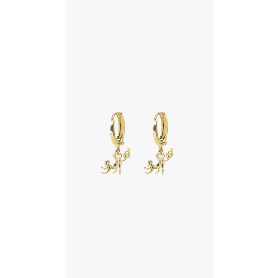 MJ Monkey Earrings Gold