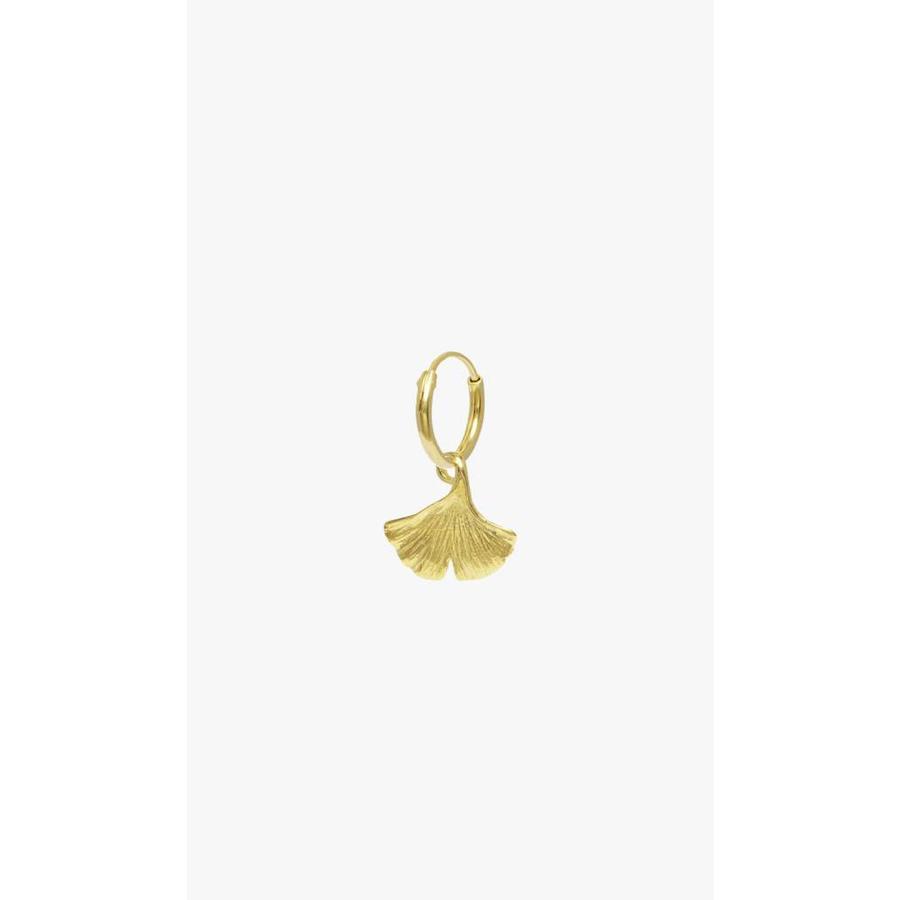 Ginko Leaf Hoop Gold