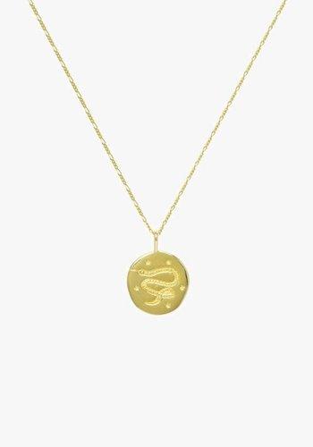 Snake Amulet Necklace - Gold