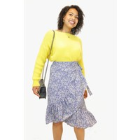 Blue Blossom Ruffle Skirt