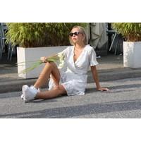 Polka Dot Dress White