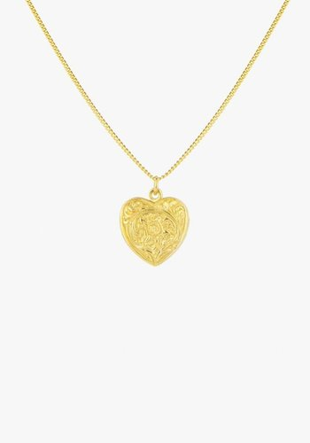 Heart Locket Necklace Gold