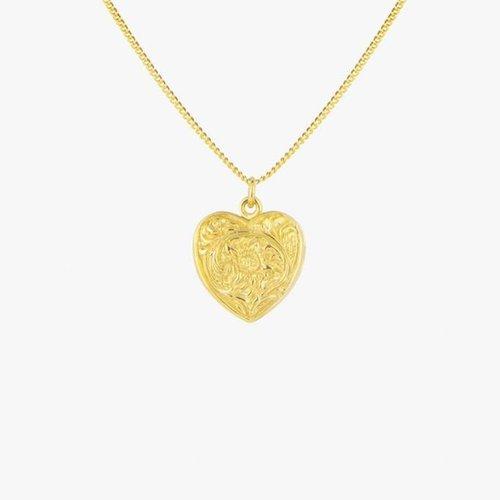 Heart Locket Necklace Gold