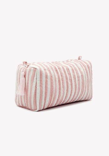 Striped Wash Bag Dusty Pink