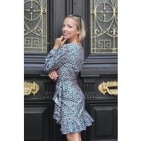 Emerald Leopard Ruffle Dress