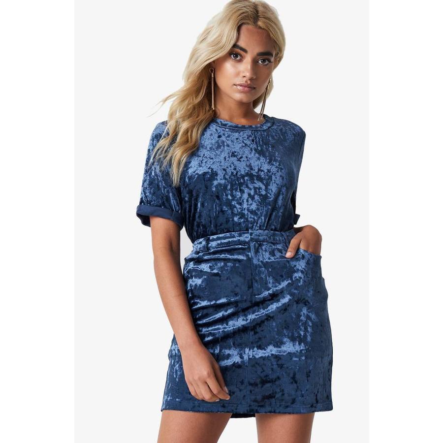 Blue Velvet Skirt