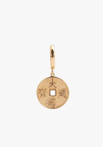 East Lucky Coin Hoop Gold