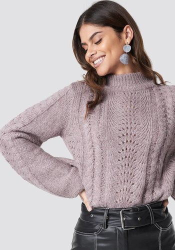 Hole Knit Pullover Lavender