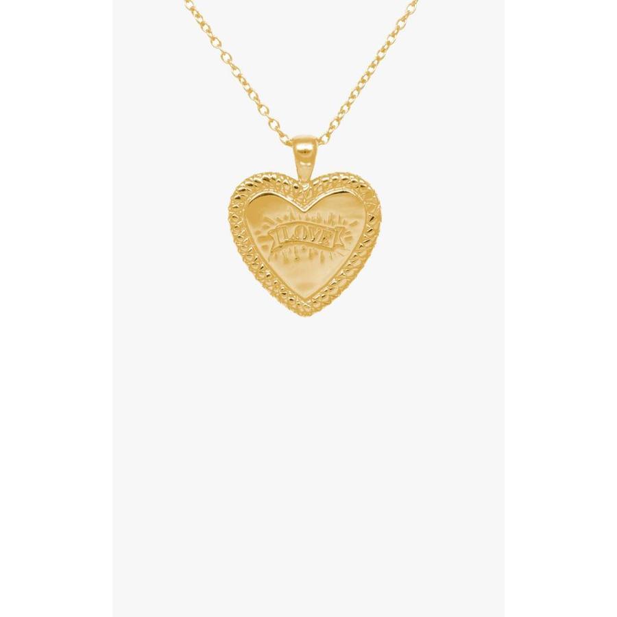 Statement Snake Print Heart Necklace Gold