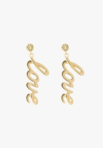Statement Love Earrings Gold