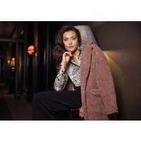 Abigail Teddy Coat Rose