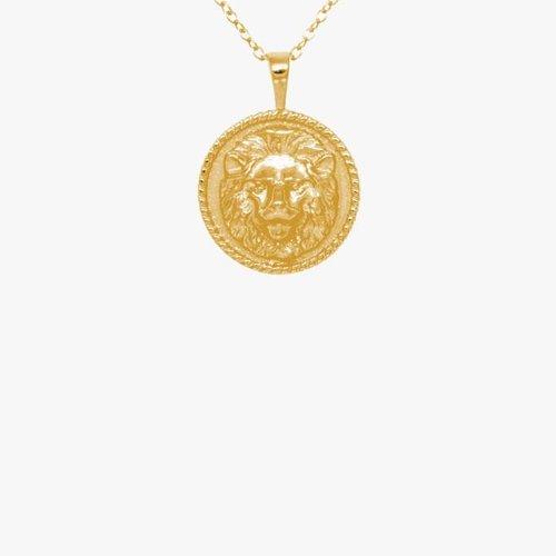 Lion Necklace Gold