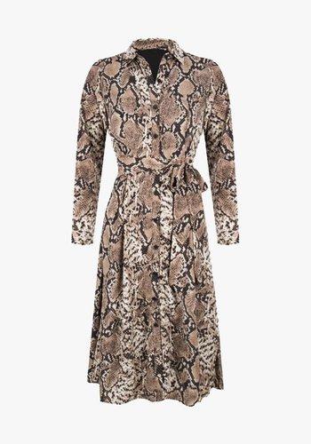 Elois Python Dress Brown