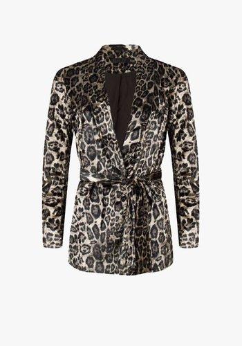 Grace Leopard Velvet Jacket