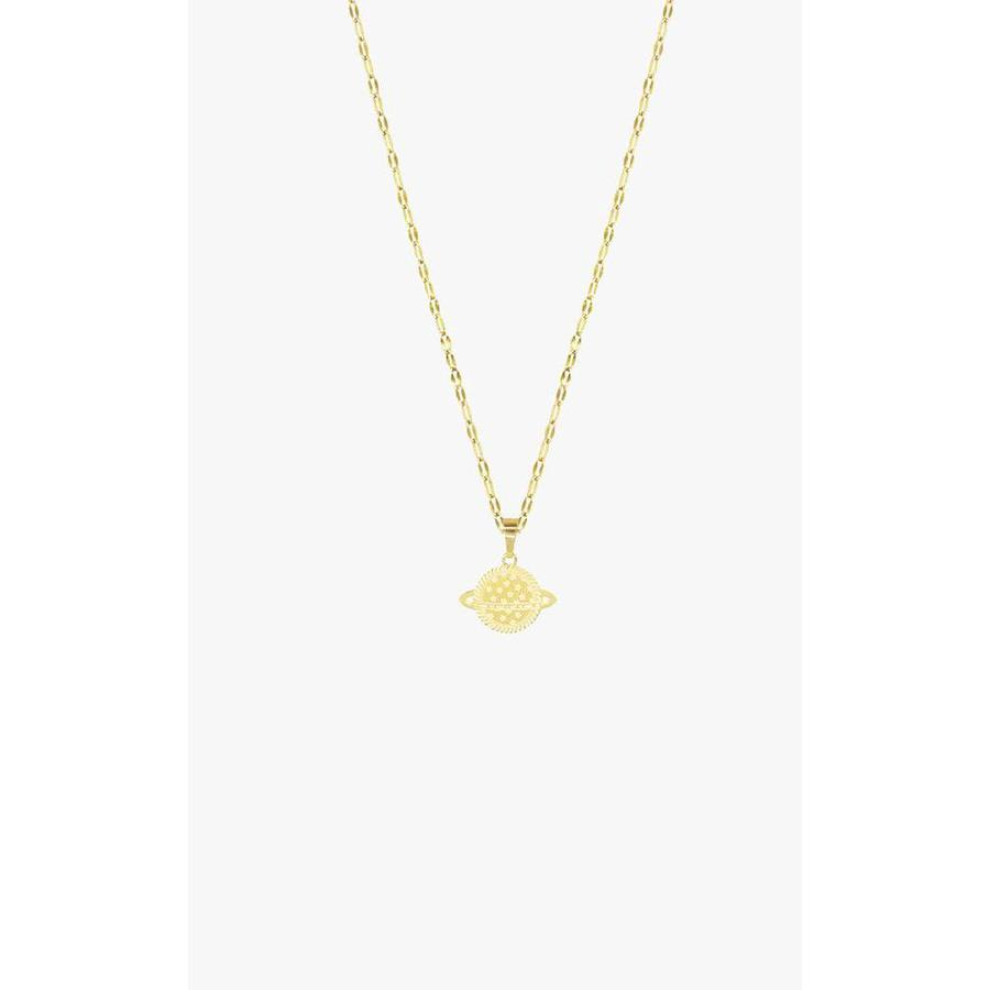 Planet Necklace Galaxy Gold