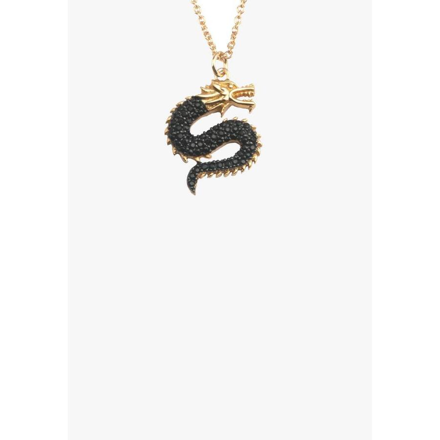 East Necklace Big Dragon Gold