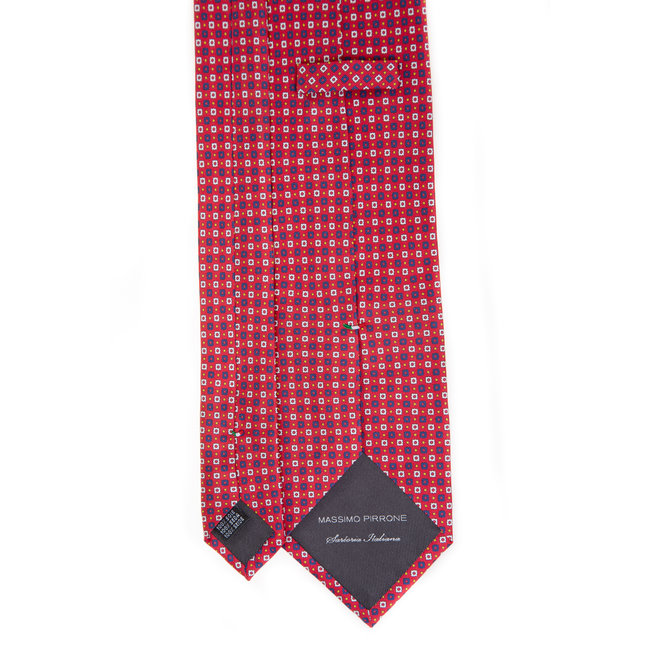 3 FOLD TIE LINED - PURE SILK -  HANDMADE IN ITALY