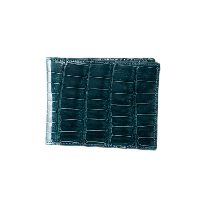 Bifold  wallet High quality Alligator - Handmade