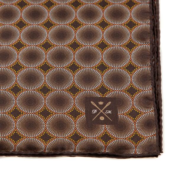 Vintage Silk Pocket Square hand  stitched edges