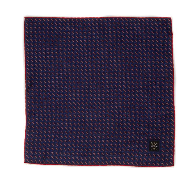 Vintage Silk Pocket Square hand rolled & stitched edges