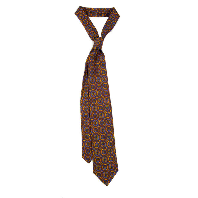5 FOLD TIE UNLINED - PURE SILK -  HANDMADE IN ITALY