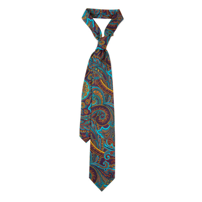 5 FOLD TIE LINED - PURE SILK -  HANDMADE IN ITALY