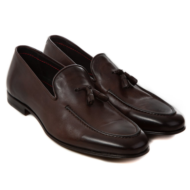 Moccasins calf leather HANDMADE LOAFERS/MOCCASINO