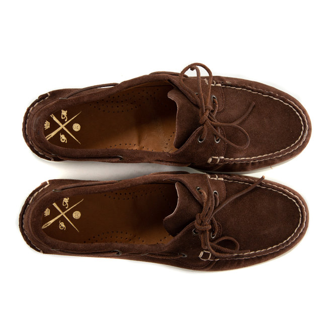Boatshoes brown suede - Made in Italy