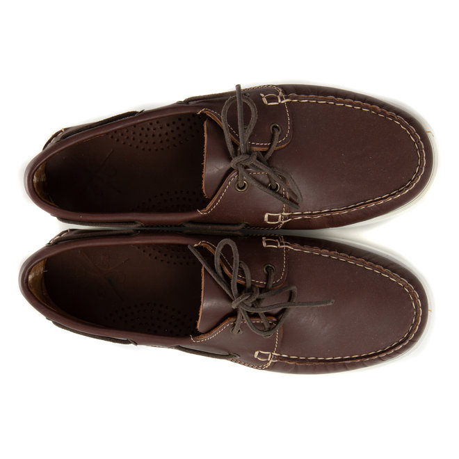 Boatshoes brown leather - Made in Italy