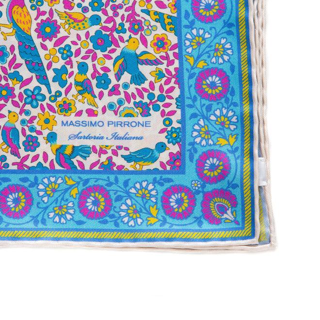 Silk Pocket Square hand  stitched edges