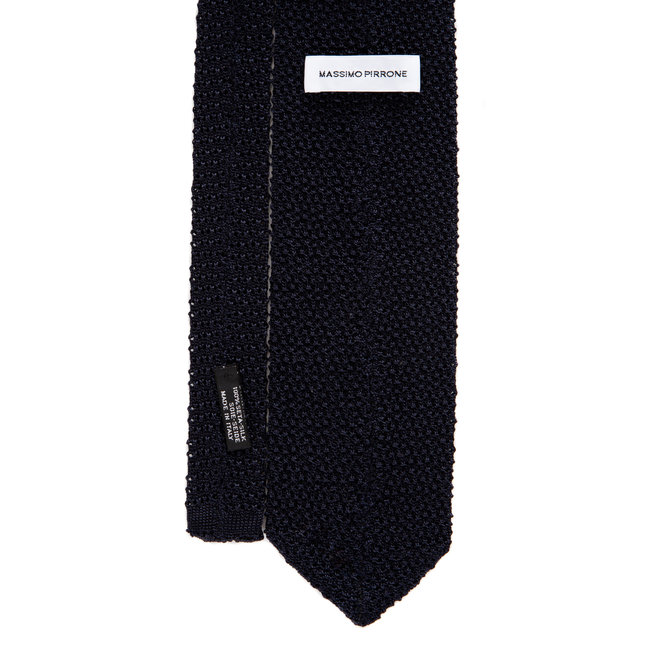 3 FOLD TIE POLKA DOT  UNLINED -KNITTED -  HANDMADE IN ITALY