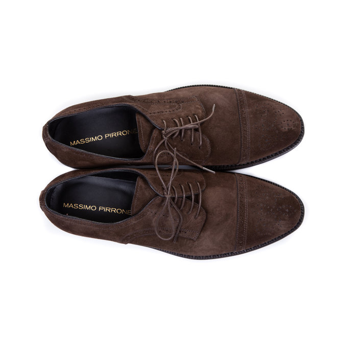Derby suede - Handmade in Italia