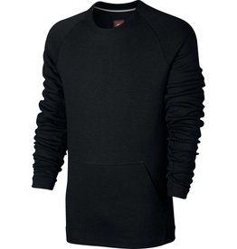NIKE SPORTSWEAR TECH FLEECE CREW BLACK