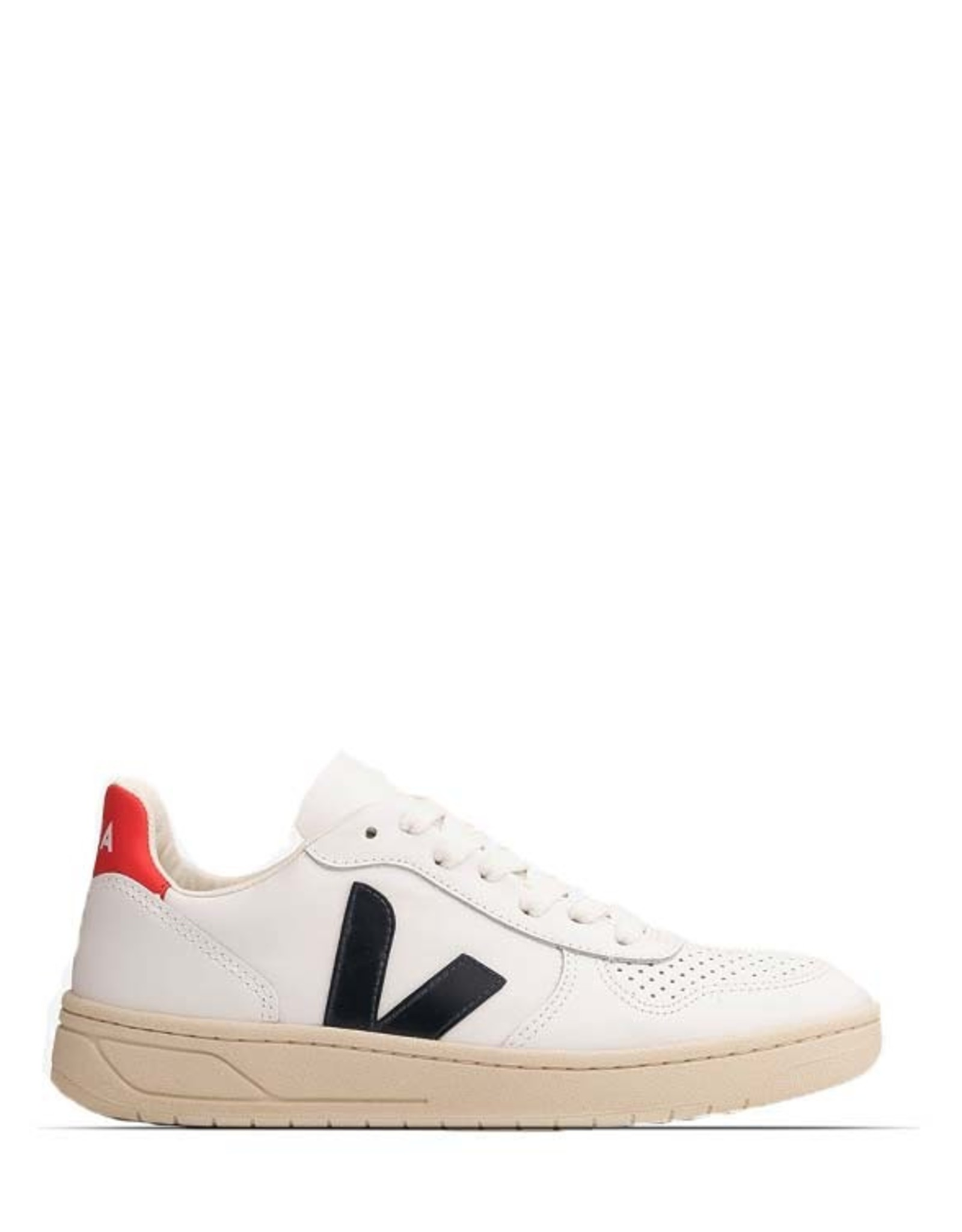 VEJA V10 LEATHER -  EXTRA WHITE / NAUTICO PERKIN