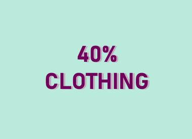 40% CLOTHING