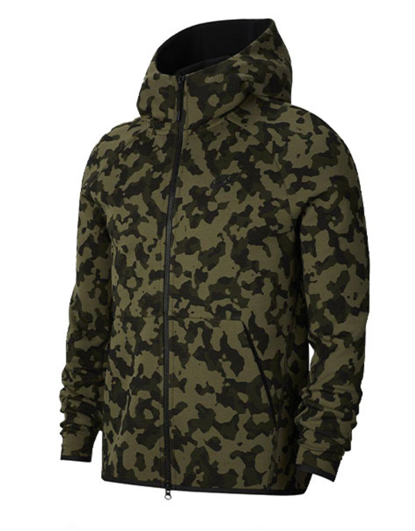 NIKE MEN'S SPORTSWEAR TECH FLEECE FULL-ZIP HOODIE - CAMO