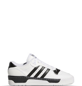 ADIDAS RIVALRY LOW CLOUD WHITE BLACK STRIPES