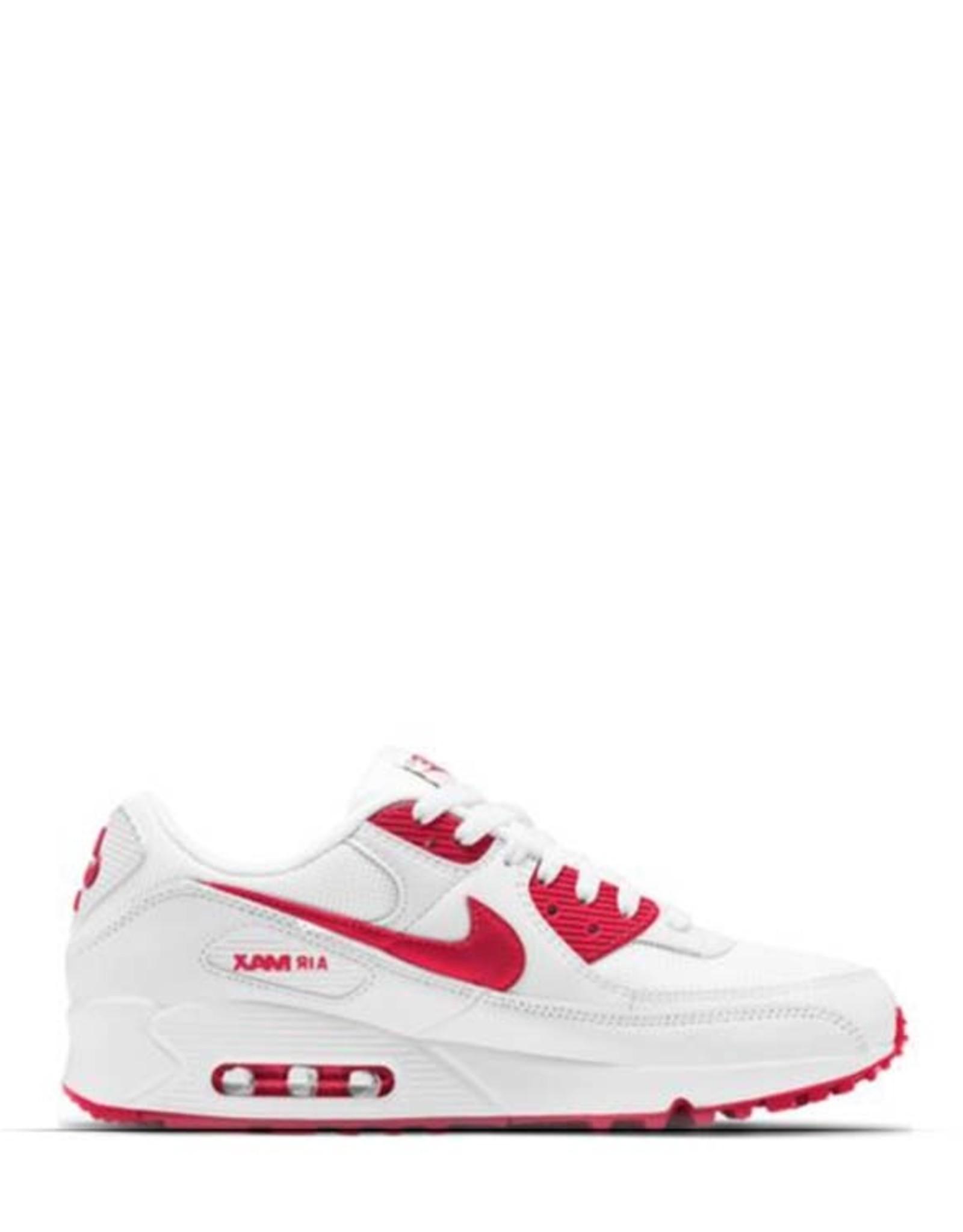 NIKE  AIR MAX 90 WHITE/HYPER RED
