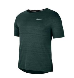 NIKE DRI-FIT MILER RUNNING - DARK GREEN