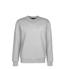 HUF ESSENTIALS TT CREW - GREY HEATER
