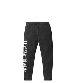 HUF ESSENTIALS FLEECE PANTS - BLACK