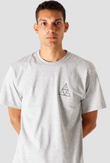 HUF ESSENTIALS TT L/S TEE - GREY HEATHER