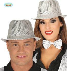 WITBAARD Glitter kojak hoed zilver