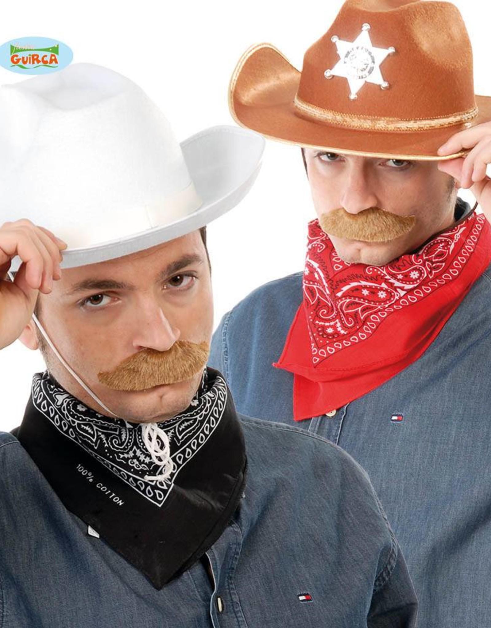 FIESTAS GUIRCA Zakdoek cowboy zwart en rood